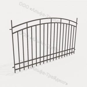 Забор из профильной трубы №10
