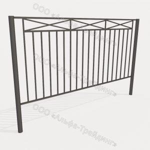 Забор из профильной трубы №16
