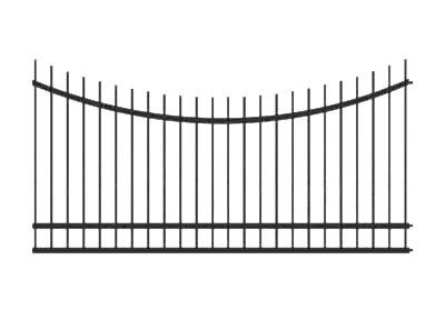 Забор из профильной трубы №2
