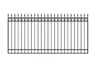 Забор из профильной трубы №4